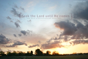 Seek the Lord Until He Comes